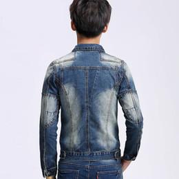 $enCountryForm.capitalKeyWord Australia - Idopy Autumn New Motorcycle High Street Men Denim Jacket Coat Man Cool Patchwork Biker Men Jacket Coat Jeans
