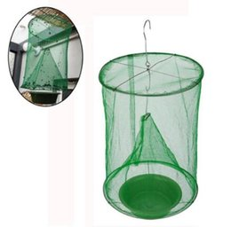 cage traps Canada - 1PCS Flies Flytrap Insert Bug Pest Zapper Cage Net Trap Garden Supplies Reusable Hanging Fly Catcher Killer