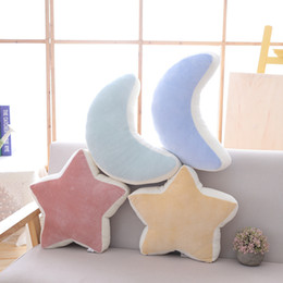 $enCountryForm.capitalKeyWord Australia - Cilected Star Moon Pillow Ins Fashion Short Plush Toys Living Room Bedroom Sofa Cushion Office Napping Pillow Home Decor