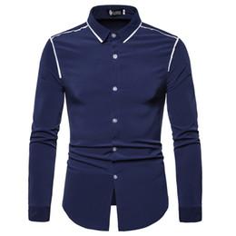 Design Red Shirt Australia - 2019 Men Shirts Europe Size New Arrivals Slim Fit Male Shirt Solid Flange design Long Sleeve British Style Cotton Men's Shirt