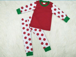 Leather pajamas online shopping - Winter pajamas Christmas style children girl boy unisex dot design cotton high quality material yll