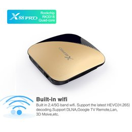 android tv box dual wifi UK - X88 Pro Android 9.0 TV Box 2G16G 4G32G RK3318 USB3.0 2.4G 5G Dual Wifi Smart TV box