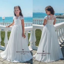 Cheap Party Tutus Australia - 2019 Simple Cheap Ball Gown Flower Girl Dresses Tank Ruffles Handmade Flowers Tulle Tutu Vintage Little Baby Gowns For Performance Party