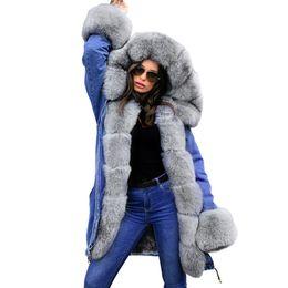 $enCountryForm.capitalKeyWord Australia - Women Jean Fur Collar Thick Designer Coats Loose Winter Warm Hooded Down Coats Parkas