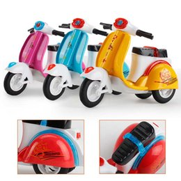 Discount bicycle cake - Alloy toy car for children Return Motorcycle Model Tricycle Baking Decorative Cake Decorative Toys Automobile Mould toy