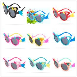Hot Girls Sunglasses NZ - Age 3-12 Fashion Girl Kids Silicone Sunglasses Polarized Sunglasses UV Protection 2019 Hot