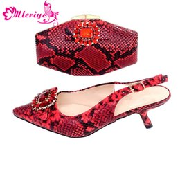 f86a48deae42 Red Glitter Shoes Women Australia - SB2-11 Red Color Matching Italian Shoes  and Bag