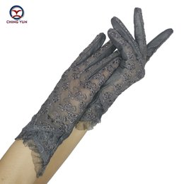 Spring Gloves NZ - CHING YUN Women Lace Gloves 2019 New Spring Woman Ultra-thin Gloves Leather Solid Women's Fashion Soft Sheepskin Ladies