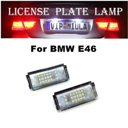 e46 led license plate light Australia - Car License Plate Lamp For BMW E46 4D 18LED 6500K 1.5w Auto LED License Light for BMW E46 LED Car Accessories Light