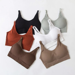 Wholesale yoga bras sale for sale - Group buy 2020 hot sale Seamless Sports Bra Women Fitness Top Yoga Bra For Cup A D Black White Running Yoga Gym Crop Top Women Push Up Sport Bra