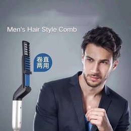 $enCountryForm.capitalKeyWord Australia - Men Quick Beard Straightener Styler Comb Multifunctional Hair Curling Curler Tool Electric Hair Styler For Men Permed Clip Comb W002