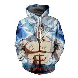 China 2019 NEW Dragon Ball Z Naruto Hoodies 3D Print Pullover Sportswear Sweatshirt Super Saiyan Cosplay Son Goku Vegeta Vegetto Outfit Tops cheap naruto cosplay outfits suppliers