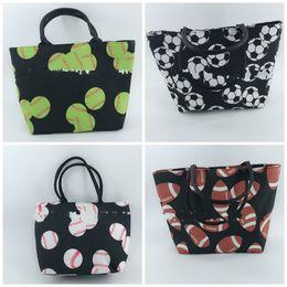 $enCountryForm.capitalKeyWord Australia - Summer Camping Beach Bag Football Printing Handbag Outdoor Shopping Wrap Unisex Eco Friendly Canvas Green Black 21 23fg C1