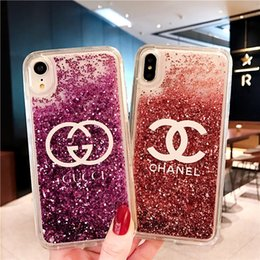 Sparkle powder online shopping - SUP Liquid Case For Iphone XS MAX XR X Plus Hard Plastic TPU Quicksand Floating Glitter Sparkle Magical Dynamic Powder Cover