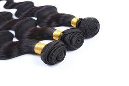 Jet Black Body Wave Hair Australia - Jet Black Color Brazilian Body Wave Bundles 100% Human Hair Extensions 10-30 Inchs Virgin Brazilian Hair Weave Bundles