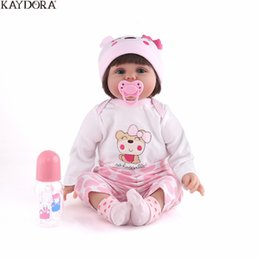 $enCountryForm.capitalKeyWord UK - wholesale 55CM 22 inch Silicone Reborn Baby Toy Dolls Lifelike Newborn Baby Alive Realistic Kids Bebe Reborn Toys For Girl