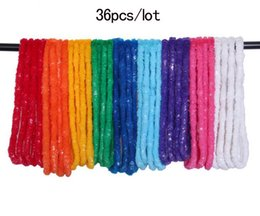 Wholesale 36pcs Hawaiian Leis Tropical Beach Theme Luau Party Flower Lei Necklace Garland Fancy DIY Party Decoration