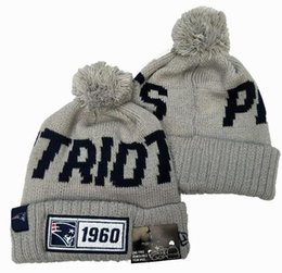 Chinese  NEW Striped Sideline Road Sport Knit Hat England Patriot Beanie Men Women Sport Cuffed Winter Wool Bonnet 100th Anniversary Skull Cap manufacturers