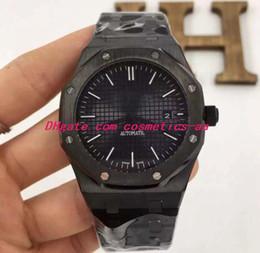 $enCountryForm.capitalKeyWord Australia - Luxury Wristwatch New Men Stainless Steel PVD Coating 41MM BLACK DIAL 15400OR.OO.D002CR.01 Mechanical Men Watches