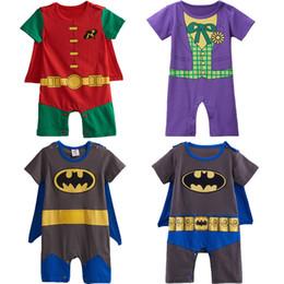 Jumpsuit Cute Australia - Baby Boy Joker Costume Romper Infant Cute Jumpsuit Batman Cosplay Party Playsuit Robin Playsuit 0-24 Months J190524