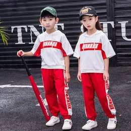 $enCountryForm.capitalKeyWord Australia - Kid Hip Hop Clothing Hoodies Sweatshirt Top Running Casual Pants for Girls Boys Dance Costumes Set Ballroom Dancing Clothes Wear