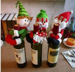 $enCountryForm.capitalKeyWord NZ - New Christmas Wine Bottle Cover Snowman Santa Claus Bottle Cover Dinner Table Christmas Decorations for Home Xmas Ornaments