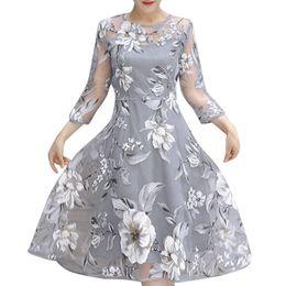 $enCountryForm.capitalKeyWord UK - Summer Dress For Women Floral Print Three Quarter Sleeve O-Neck Dress Wedding Party Cute sundress