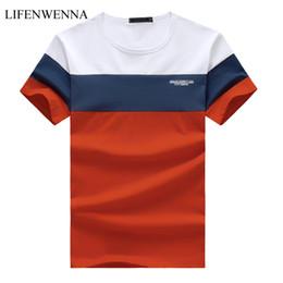 Slim Fit Casual T Shirts Australia - New Summer Men's T Shirt 2019 Fashion Striped T Shirt Mens Clothing Trend Slim Fit Short Sleeve Casual Mens Top Tees Shirt 5xl Y19050701