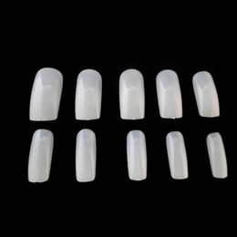 Discount wholesale nail art products - 500pcs Nail Art Natural Style False Nails Fake Nails Tips French Manicure Artificial Beauty Products