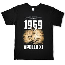 blue moon t shirts Canada - Apollo XL 1969 Moon Walk Astronaut 50th T-Shirt Funny Men's 100% Cotton T-Shirt Crew Neck Short Sleeve Street Tees Shirt Casual Printed Tops