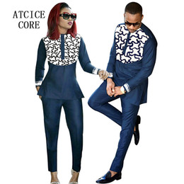 EmbroidEry african clothEs online shopping - african clothing Husband and wife wear african bazin riche embroidery dashiki clothes