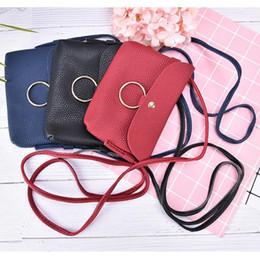 Genuine Leather Crossbody Handbags Wholesale Australia - PU Leather Small Sling Shoulder Bags Women Crossbody Messenger Bag Girls Purses Phone Bag Fashion Handbags 17*12*2cm