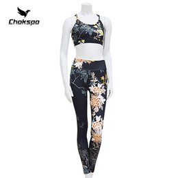 19d4033a3b8 Plus size gym wear online shopping - yoga set printing yoga sets women  fitness gym sports