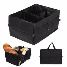 box trucks 2019 - Car Trunk Organizer Collapsible Durable Large Cargo Storage Box Multi-Pocket Auto Container Bag for Car Truck SUV cheap