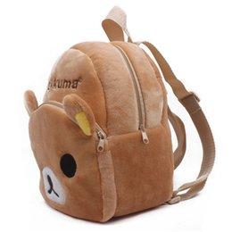 Brown Bear Backpack Australia - lush school bag Hot sale Rilakkuma brown bear baby plush school bags kids backpack lovely design mini bags for kindergarten boy birthday ...