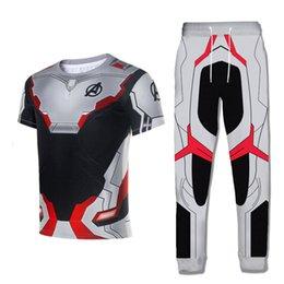 $enCountryForm.capitalKeyWord Australia - 2019 New Design Men Women Summer Tracksuit Set Short Sleeve T shirt+Pants Endgame 3D Print Short Sleeve Two Pieces Sets