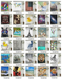 Curtains styles designs online shopping - Shower curtain x inch waterproof D shower curtains for bathroom premium polyester fabric decorative bath curtain design many styles S