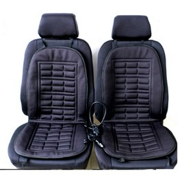 $enCountryForm.capitalKeyWord NZ - 2pcs Car Seat covers Automobiles Front Seat Covers Pad Electric Heated Cushion Interior Car Styling Rolled Up Car Styling