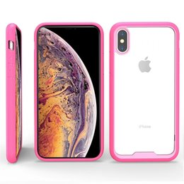 Iphone Crystal Case Australia - For iPhone XS Max Xr Case Crystal Clear Hard Hybrid Cover iPhone 6 6S 7 8 Plus X Soft Silicone Edge Bumpe Transparentr