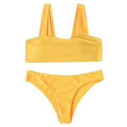 $enCountryForm.capitalKeyWord UK - Bikinis 2019 Sexy Women Print Wide Strap Padded Two Pieces Bathing Suit Bikini Swimwear Swimsuit Tankini Swimdress Biquini Mujer