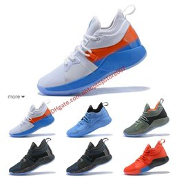 b4844959c4a9 Drop Shipping Paul George 2 PG II Mens Basketball Shoes PG2 2S Starry Blue  Orange All White Black Sports Sneakers Shoes Size 40-46