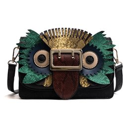 $enCountryForm.capitalKeyWord UK - 2019 new style Fashion designer women Owl Bags Shoulder Bag luxury Cross Body Flap handbags Clutch bag totes mixed color bags