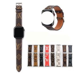 para Apple Watch Carta pulseira de couro para Apple Watch pulseira de 38 milímetros 40 milímetros 42 milímetros 44 milímetros Designer Cintos para iWatch 5 4 3 2 strap em Promoção