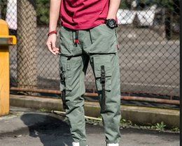 Korean green pants online shopping - Desginer Men Overalls Brand Handsome Casual New Joker Fashion Korean Japanese American and Hong Kong Style Fashion Luxury Overalls