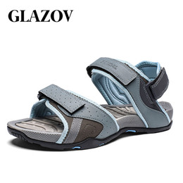 quality beach wraps NZ - GLAZOV Summer Style High Quality Beach Casual Male Sandals Breathable For Men Walking Brand High Quality Comfortable Shoes 39-46 MX200617