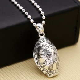 $enCountryForm.capitalKeyWord Australia - S925 sterling silver creative jewelry Feng Shui turtle shell men and women pendant (FGL)