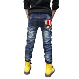 Jeans year old online shopping - 2019 Spring new fashion patchwork boys jeans high quality good material children jean age years old