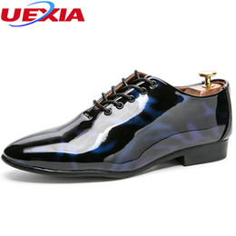 Men Shoes Australia - UEXIA Fashion Wedding Dress Shoes Men Flats Business Lace-up Lace Up Modern Party Formal Footwear Shoes High Quality Oxford Shoe