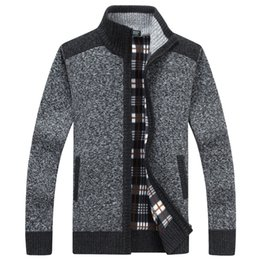 Male Clothing Styles Canada - 2019 Thick New Fashion Brand Sweater For Mens Cardigan Slim Fit Jumpers Knitwear Warm Autumn Korean Style Casual Clothing Male