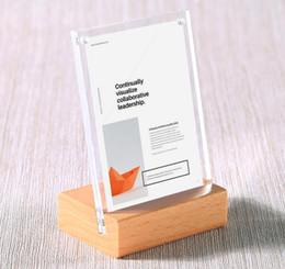 $enCountryForm.capitalKeyWord Australia - 10x15cm Acrylic Frame Desk Sign Menu Stand Name Card Holder Advertising Poster Price Tag Display Label Holder Wood Photo Frame